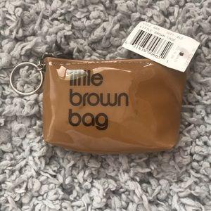 BNWT Bloomingdales Little Brown Bag Coin Purse
